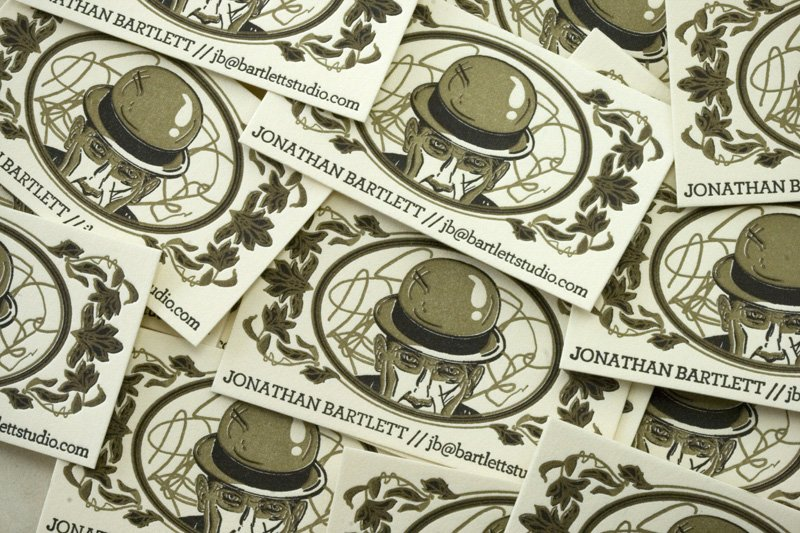 15% off letterpress business cards